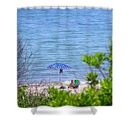 Woman On The Beach Shower Curtain