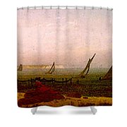 Woman On The Beach Of Rugen  Shower Curtain