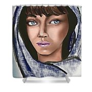 Woman Portrait Shower Curtain