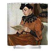 Woman Reading Shower Curtain by Felix Edouard Vallotton