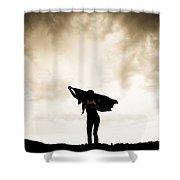 Woman Sillhouette Shower Curtain