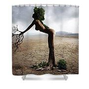 Woman Tree Art Shower Curtain