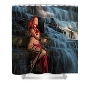 Woman Warrior Shower Curtain
