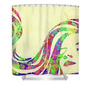 Woman Watercolor Series Ix Shower Curtain