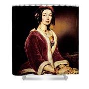 Woman Wearing A Velvet Pelisse  Shower Curtain