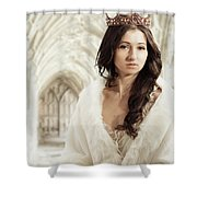 Woman Wearing Crown Shower Curtain