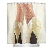 Woman Wearing High Heel Shoes Shower Curtain