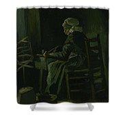 Woman Winding Yarn Nuenen, March 1885 Vincent Van Gogh 1853 - 1890 Shower Curtain