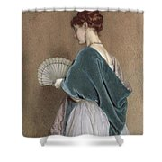 Woman With A Fan Shower Curtain
