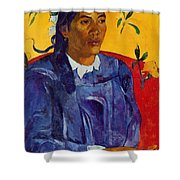 Woman With A Flower 1891 Shower Curtain