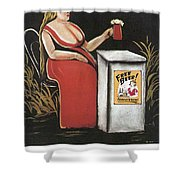 Woman With A Mug Of Beer Shower Curtain