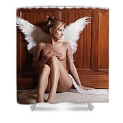 Woman With Angel Wings Shower Curtain