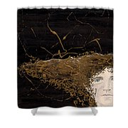 Woman With Beautiful Hair Shower Curtain