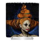 Woman With Big Hair Shower Curtain