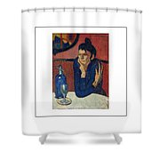 Woman With Coffee Femme Au Cafe Shower Curtain