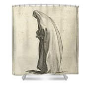 Woman With Long Veil Shower Curtain