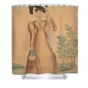 Woman With Plumed Hat Shower Curtain