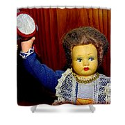 Woman With Tambourine Shower Curtain