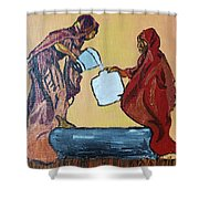 Woman's Worth - 3 Shower Curtain