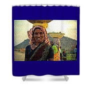 Women Carrying Goods On Their Heads H A Nv Shower Curtain
