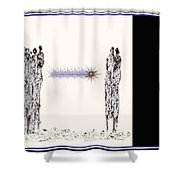 Women Chanting - Women Empowering Women Shower Curtain