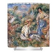 Women In A Landscape Shower Curtain