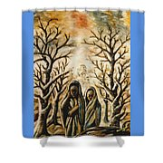 Women In Harmattan Shower Curtain