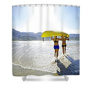 Women Kayakers Shower Curtain