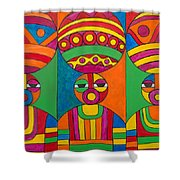 Women With Calabashes Shower Curtain