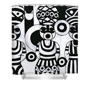 Women With Calabashes IIi Shower Curtain