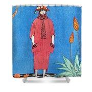 Womens Fashion, George Barbier, 1921 Shower Curtain