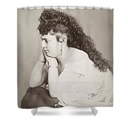 Womens Hairstyle Shower Curtain