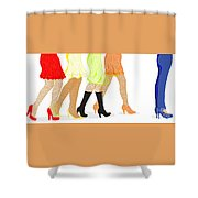 Womens Leg Dots Shower Curtain