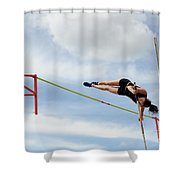 Womens Pole Vault Shower Curtain