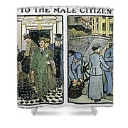 Womens Rights, C1910 Shower Curtain