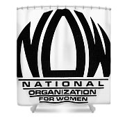 Womens Rights: Now Logo Shower Curtain