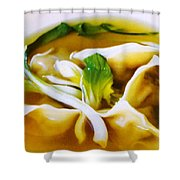 Won Ton Shower Curtain