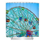 Wonder Wheel Amusement Park 1 Shower Curtain