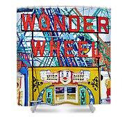 Wonder Wheel Amusement Park 10 Shower Curtain