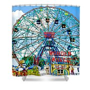 Wonder Wheel Amusement Park 6 Shower Curtain