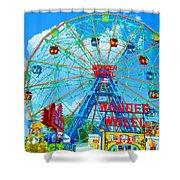 Wonder Wheel Amusement Park 7 Shower Curtain