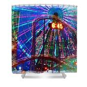 Wonder Wheel At The Coney Island Amusement Park Shower Curtain