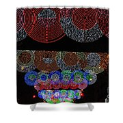 Wonderful And Spectacular Christmas Lighting Decoration In Madrid, Spain Shower Curtain