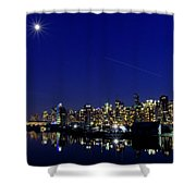 Wonderful Autumn Night In Port Vancouver Shower Curtain