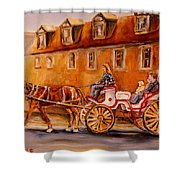 Wonderful Carriage Ride Shower Curtain