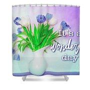 Wonderful Day Shower Curtain