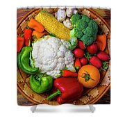Wonderful Fresh Vegetables Shower Curtain