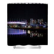 Wonderful Night Of False Creek View With Bc Place. Shower Curtain