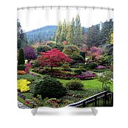 Wonderful Sunken Garden In The Butchart Gardens,victoria,canada 1. Shower Curtain