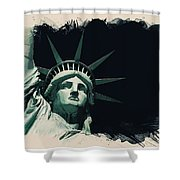 Wonders Of The Worlds - Lady Liberty Of New York 2 Shower Curtain